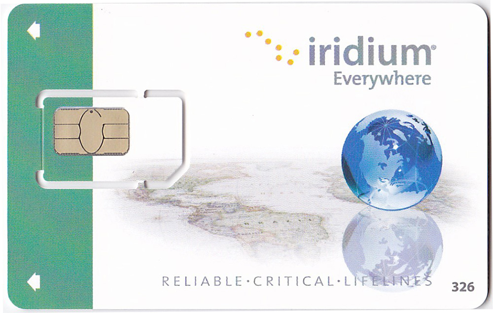 Iridium Pre-Paid Sim Card