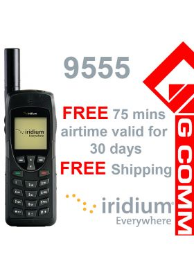Iridium 9555 Satellite Phone February Special with 75 mins free airtime