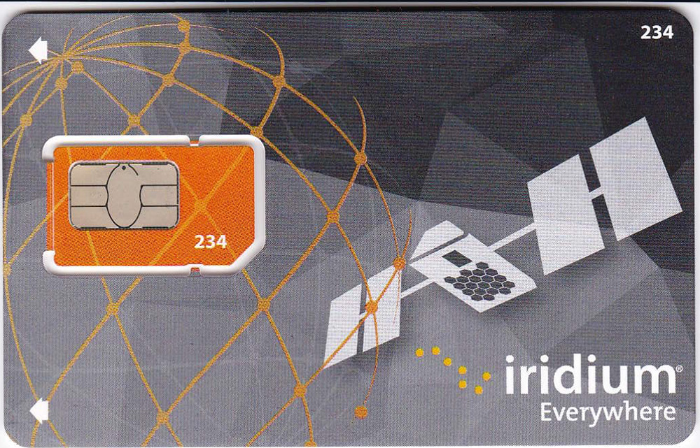 Iridium Post-Paid Sim Card