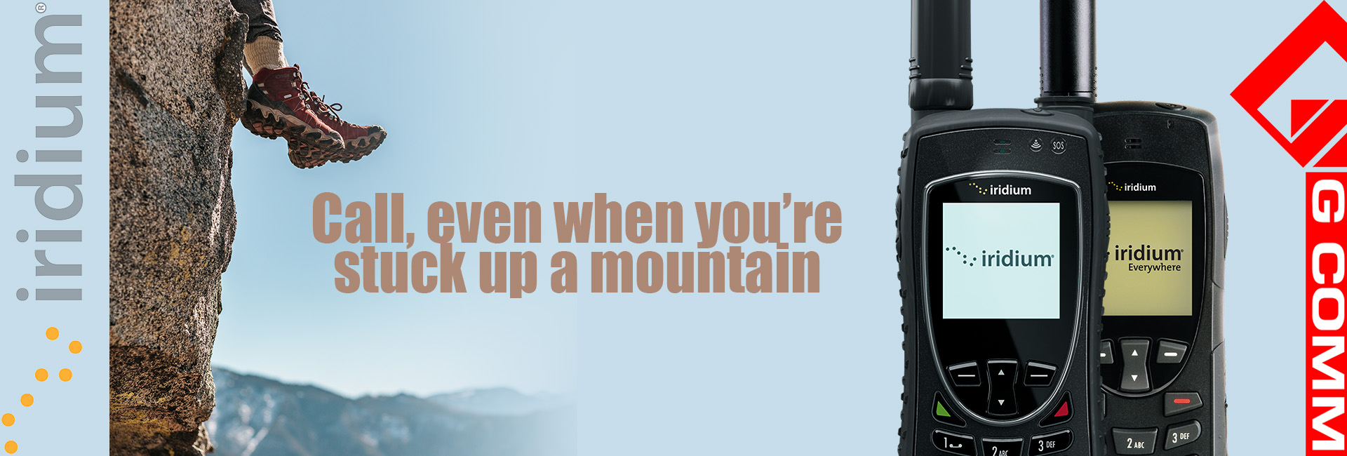 Call from anywhere - even up a mountain