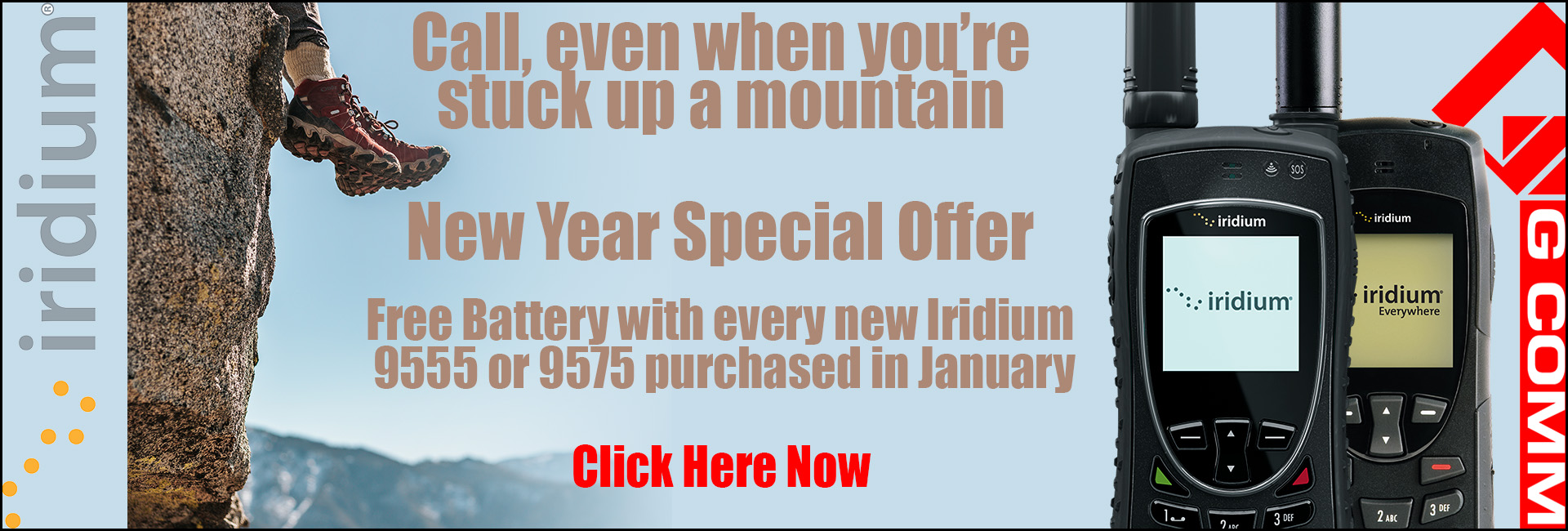 New Year special on Iridium satellite phones
