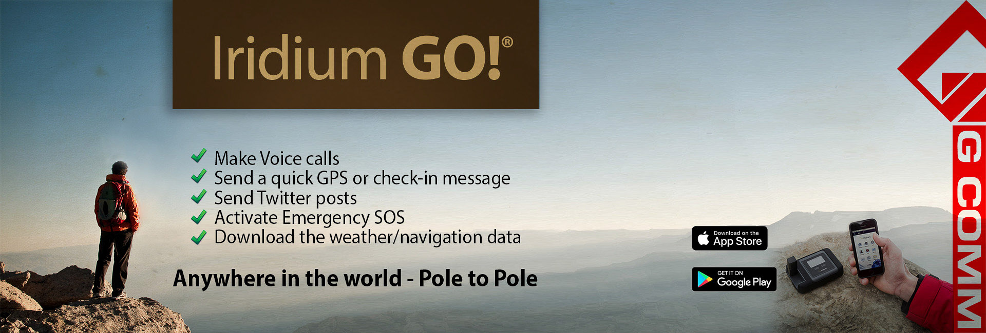 Iridium Go satellite WiFi Hotspot generator