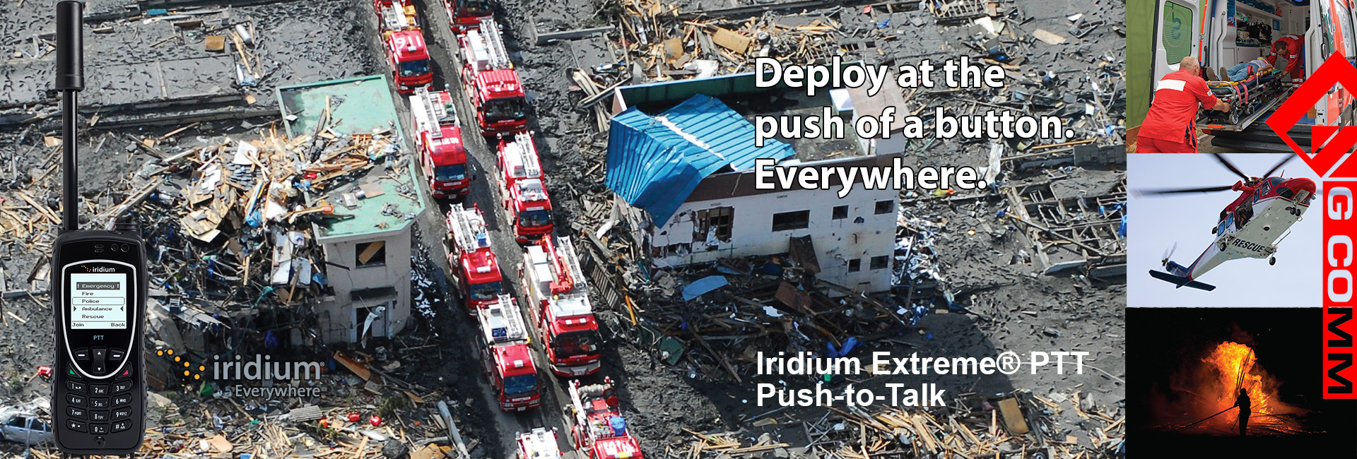 Iridium PTT disaster background